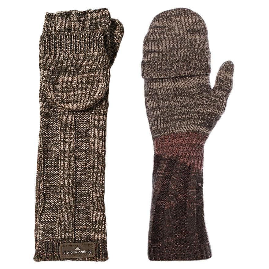 adidas by Stella McCartney Laufhandgestrickte Handschuhe für Damen Warme Winterhandschuhe
