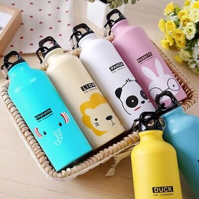 aluminum 500ml Cute Cartoon water bottles for hiking and outdoor travel