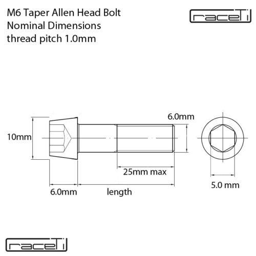 Sattel Titan Bolzen Pack 4 Raceti M6x15mm Bolzen Gemeinsame Kurbel Prise