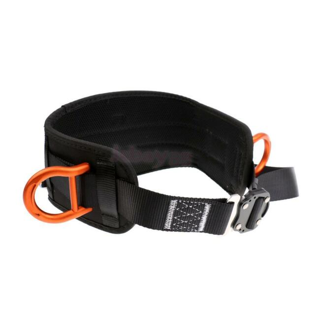 Pro Rock Climbing Safety Belt Harness Slotted D Ring Gear Holder Accessories