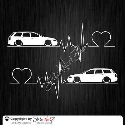 0504 | Herzschlag A4 B5 Avant  Satz Aufkleber | Sticker Audi