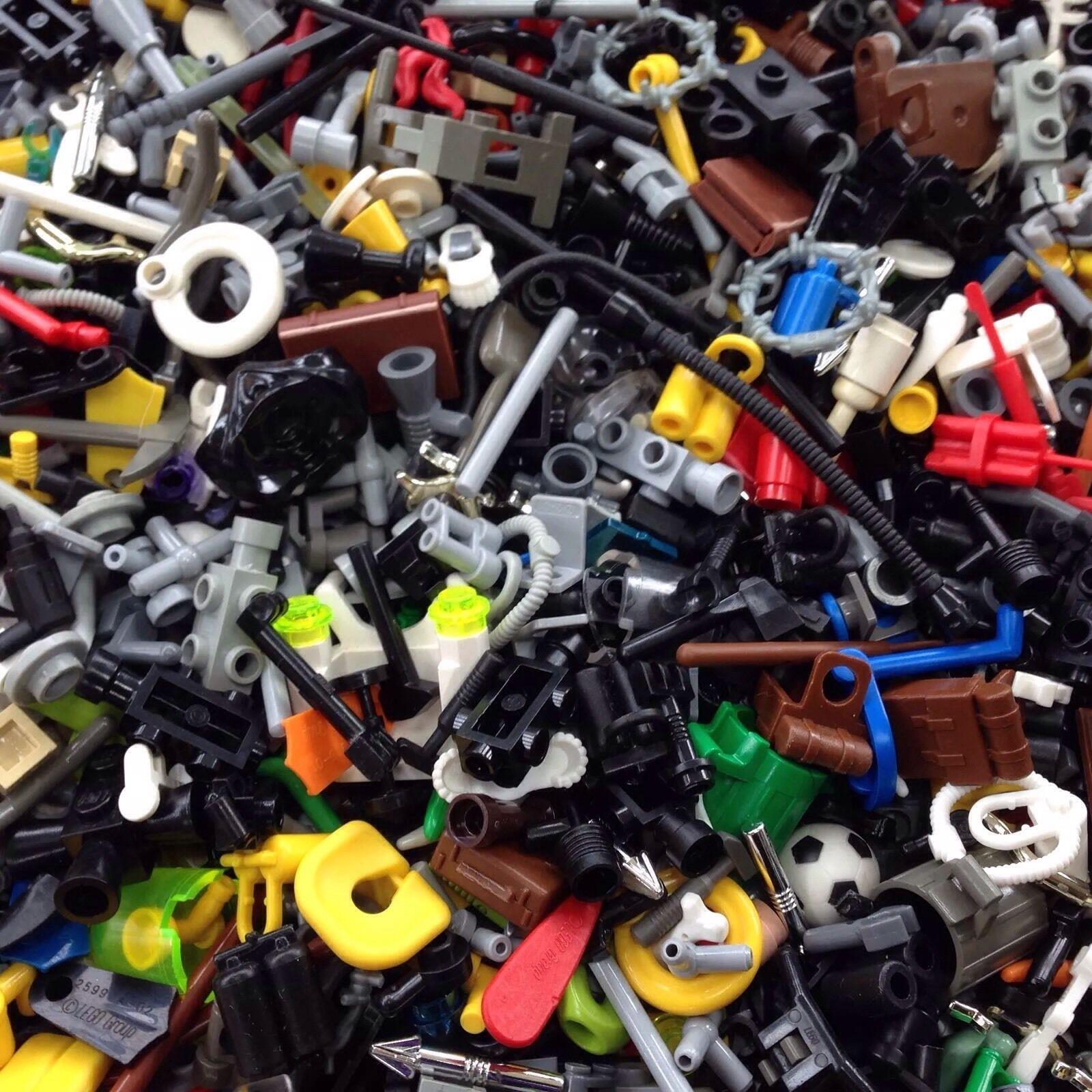 500x Lego   aleatorio Grab Bag Lote De Accesorios   500 un.   Armas   Herramientas   ciudad