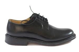 CHURCH-039-S-Shannon-Black-Polished-Binder-brogue-stringata-pelle-spazzolata-liscia
