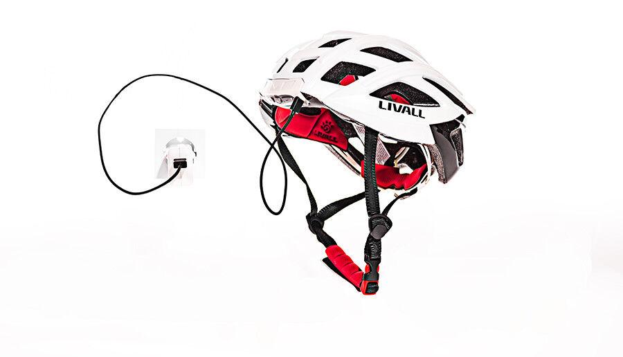 Livallbh60seColoreeeE  BIANCO    Casco per biciclettacon luce meglio essere visti