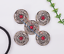 10X-Bohemian-3D-Flower-Turquoise-Conchos-For-Leather-Craft-Keychian-Wallet-Decor miniatuur 28
