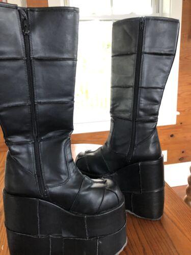 Demonia Black Platform Kiss Costume Goth Boots Men