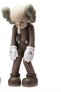 KAWS Medicom Toy Small Lie Brown Vinyl Limited Edition 100% Authentic