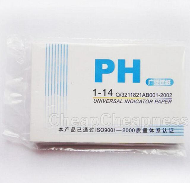 80x PH Test Strips Litmus Paper 1-14 Alkaline Urine Saliva Acid Aquarium tanNMCA
