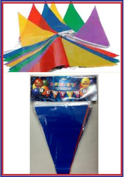 NUOVO MultiColoreeee Bunting triangolo 500m lungo 1000flags