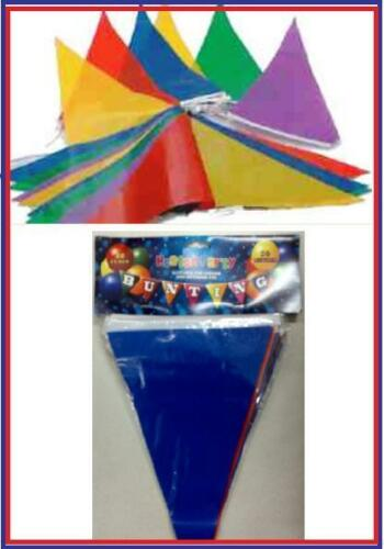 NEW MULTICOLOURED BUNTING TRIANGLE 1000M LONG 2000FLAGS