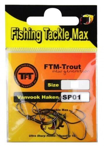 FTM TFT Trout Generation Vanvook Haken SP01 Gr 4 8364004 Spoonhaken Widerhaken