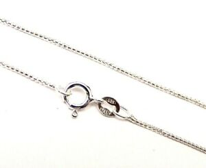 Sterling-Silver-Box-Chain-Italy-20-Inches-Necklace-for-Pendants