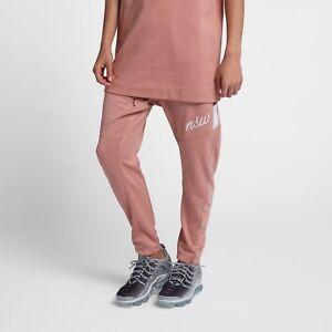 97b93380b5e5 Nike Sportswear Pants New Rust Pink Burgundy Crush White Men 928587 ...