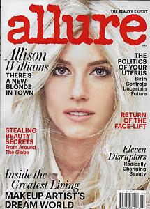 Details about Allure Magazine Allison Williams Beauty Secrets Face Lifts  Makeup Paul McGrath