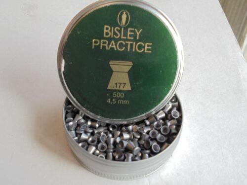 Bisley pratica CAL 4.5 MM//.177 x 500 TIN di pellet