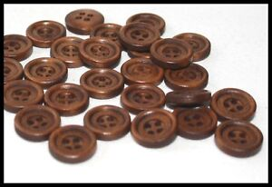 BROWN BLAZER COAT 4 HOLE BUTTONS 23mm