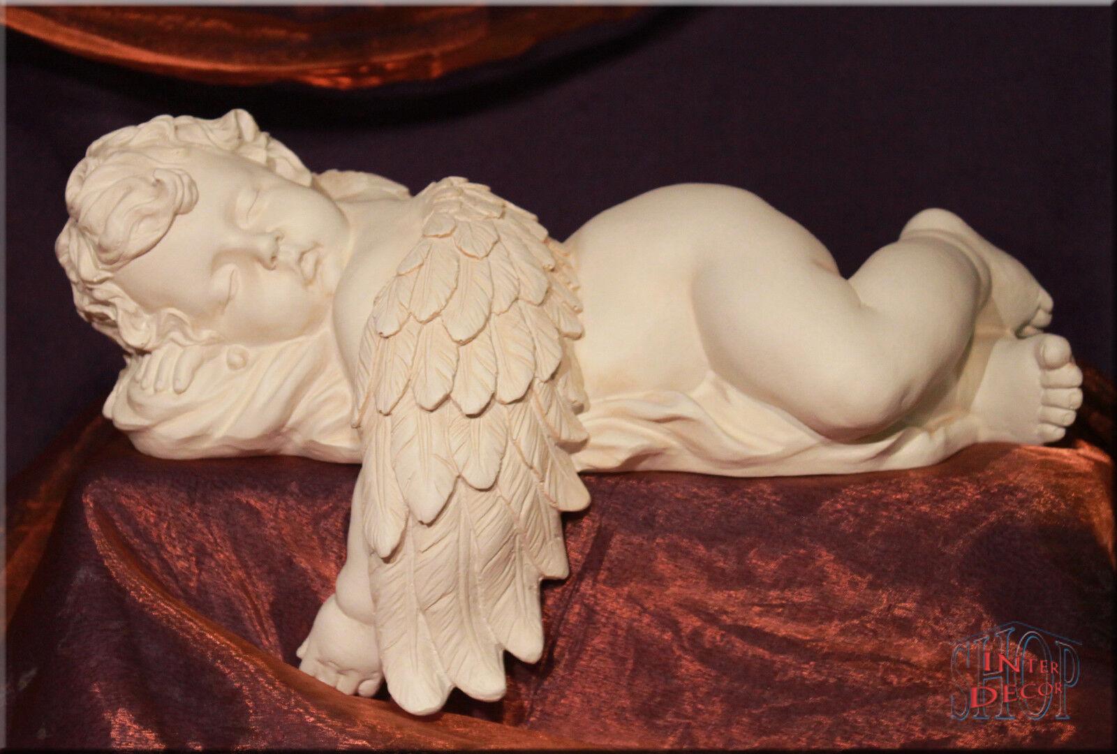 Schlafender Engel Figur Figur Figur Amor Skulptur Gartenfigur Geschenk Kunstharz 76fc96