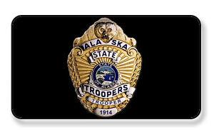 Kurkentrekkers, flesopeners ALASKA STATE TROOPER POLICE BADGE MAGNET PACKAGE SET OF 4