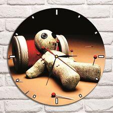 Reloj De Pared Voodoo Muñeca Color Vinyl Record De Diseño Hogar Tienda Oficina Coleccionista