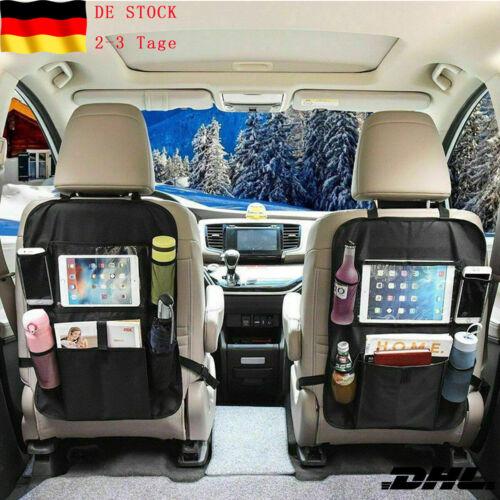 2tlg//Set Kindersitz Rückenlehnentasche Autositztasche Sitzschoner Organizer 2019