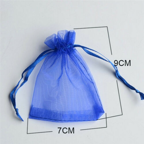 50pc Organza Gift Bags Jewelry Candy Bag Wedding Favors Bags Mesh Gift Pouches^G