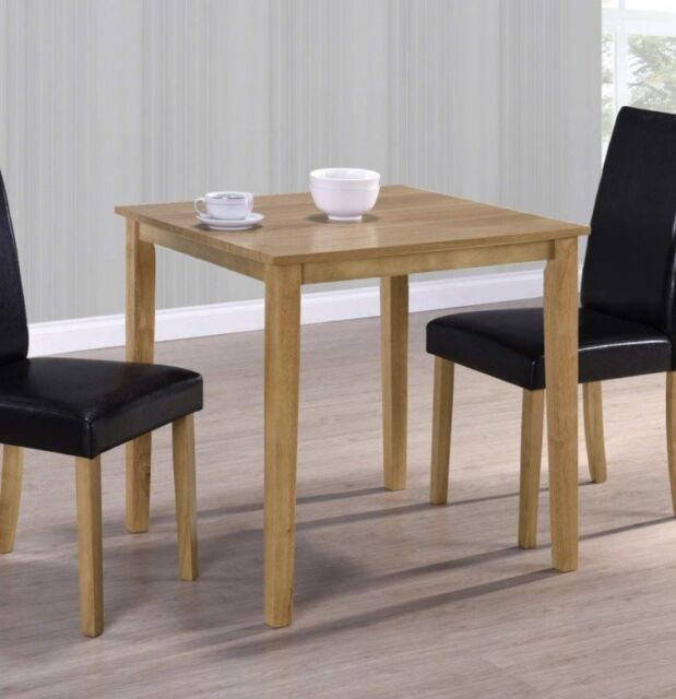 Small Square Dining Table Kitchen Oak Furniture Solid Wood Room Breakfast Diner For Online Ebay