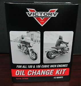 New-Victory-motorcycle-Oil-Change-Kit-for-All-100-106-Cubic-In-Engines-2879600