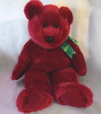 "TY BEANIE BUDDIES Teddy Bear 14""  CRANBERRY 1998 Plush Soft Toy Stuffed Animal"