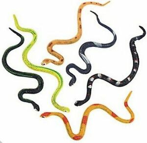 Pack of 12 - Plastic Realistic Snakes - Great Halloween Party Loot Bag Fillers