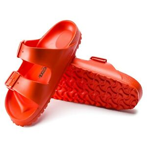 Birkenstock-Womens-Arizona-Essentials-Eva-Flame-Orange-Red-Strap-Sandals-1014612