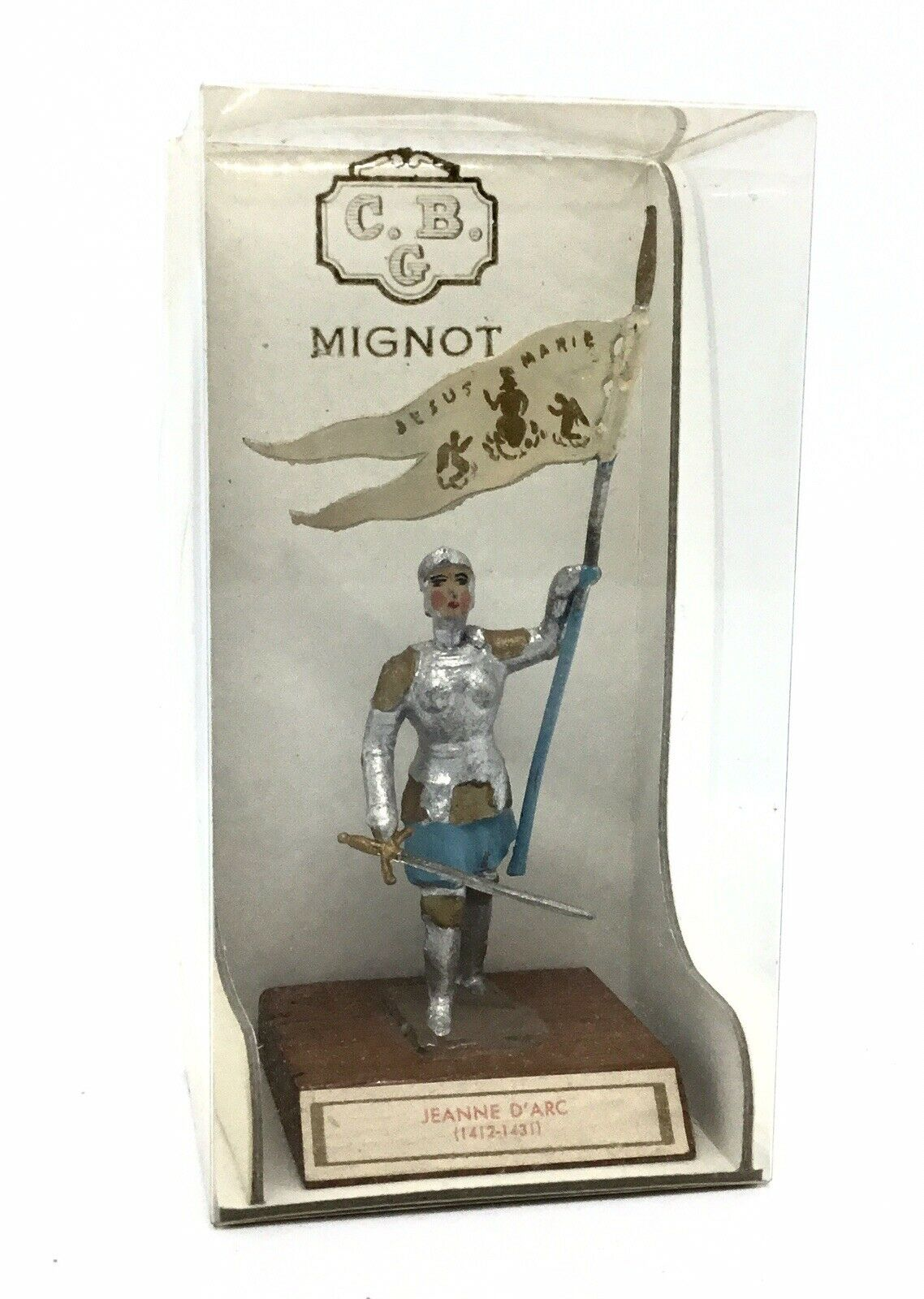 Joan of of of Arc Mignot Historic Toy Soldier Figure Boxed Vintage 7c8