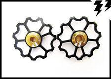 MT ZOOM BLACK Ultralight Ceramic Bearing Deraileur 11T Jockey Speed Wheels 5.6g!