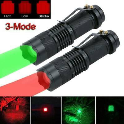 Red Beam LED Flashlight Night Vision Torch Light For Emergency Camping Hunting