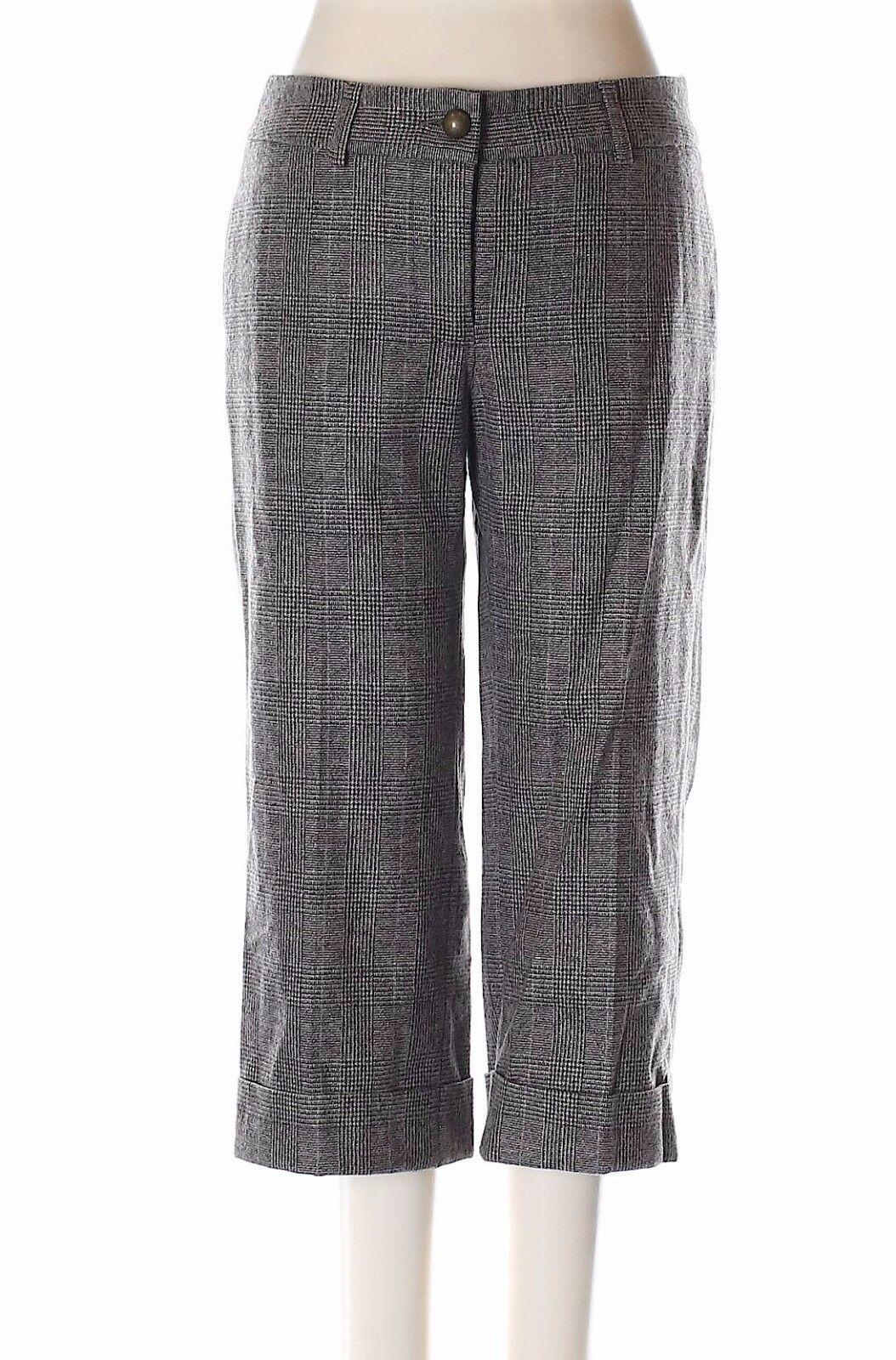 New Sally Tseng Designer Wool Crop Pants Size 4