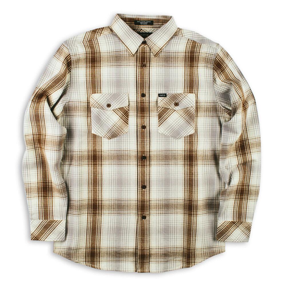 MATIX Scheme Flannel Shirt (M) Natural