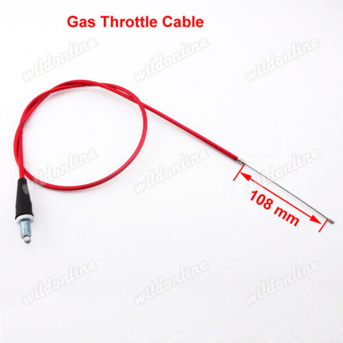 Red Throttle Cable Fuel Hose Filter For Chinese XR50 CRF50 SSR BBR Pit Dirt Bike