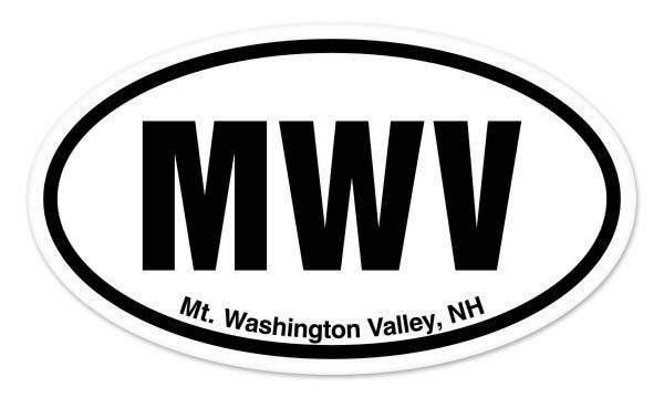 MWV Mt. Washington Valley New Hampshire Oval car window bumper sticker decal 5