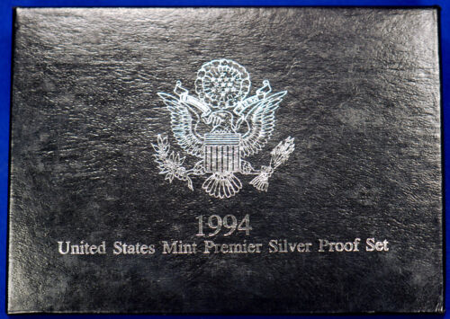 Coins in Mint Made Custom Display Box 1994-s Premier SILVER Proof Set
