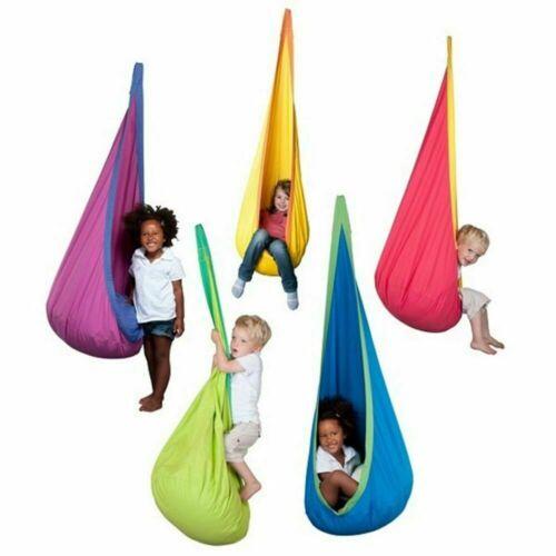 Amaca Pod Kids Swing-per bambini Amaca Da Appendere Sedia libera Pump /& Carry Bag