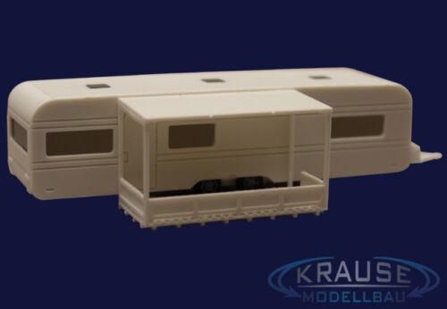 KIT CAMPER ROULOTTE 10 metri con veranda Faller Guillaume modello Ferrovie 1:87