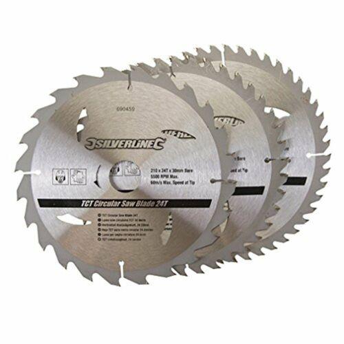 3 Pack 210 mm TCT Lames de scie circulaire ID = 30 mm pour répondre à perles KS70