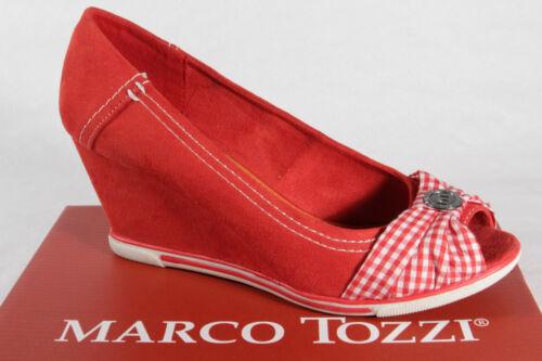 Nuovo Rosso Sintetico Marco Mocassino Tozzi bianco Pantofola Décolleté ZwpTq0H