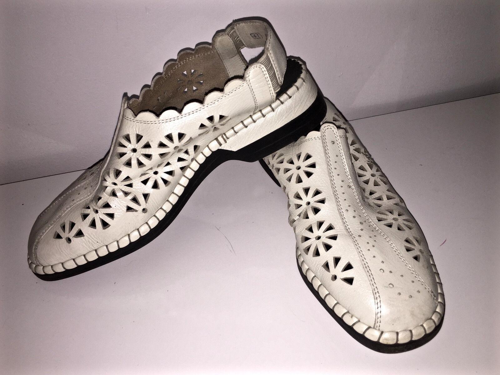 Adorabili sandali di cuoio bianco RIEKER taglia 41 eccellente condizione