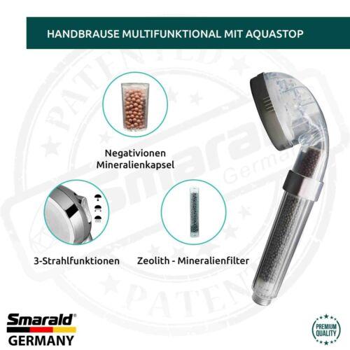 Duschfilter multifunktional Filterbrause mit integriertem 2-Stuffen