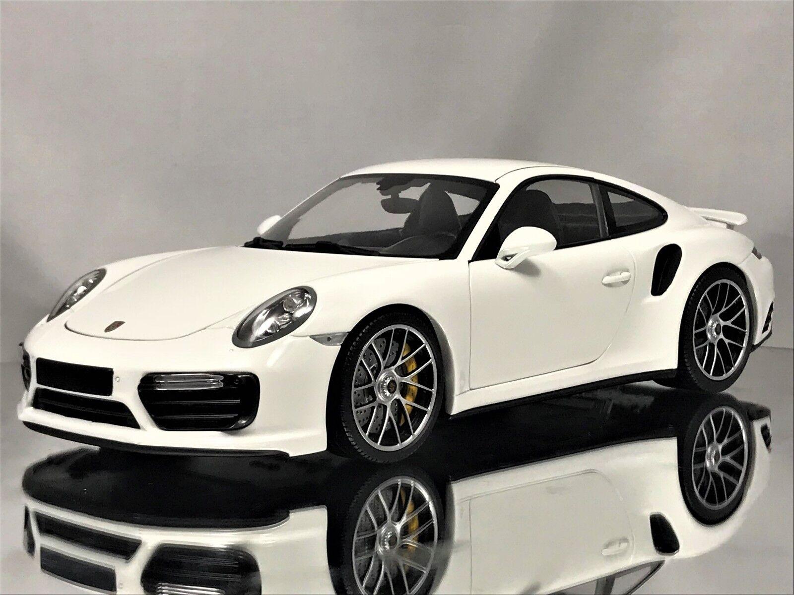 Minichamps Porsche 911 (991 II) MkII Turbo S 2016 Blanc Voiture Modèle 1 18