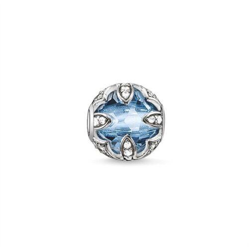 Light Blue Lotus Karma Charm Crystal Bead fits European Bracelets Gift Bag