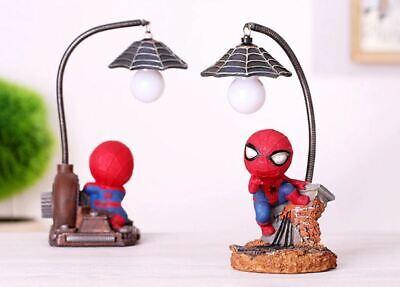 SPIDERMAN Nuit Mini lumière bureau lampe de table Avengers decor enfants Figure Toy | eBay