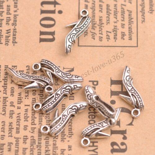 Wholesale 10Pcs Tibetan Silver Talons Hauts Charms Pendentifs Bijoux 21X7MM B369