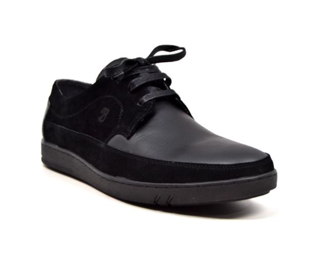 British Walker Collection  Bristols  Mens Black Leather and Suede  Y6269-1-3
