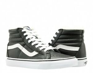 Vans-Sk8-Hi-Reissue-Leather-Fleece-Black-White-Men-Lifestyle-Sneaker-VN0A2XSBEU1